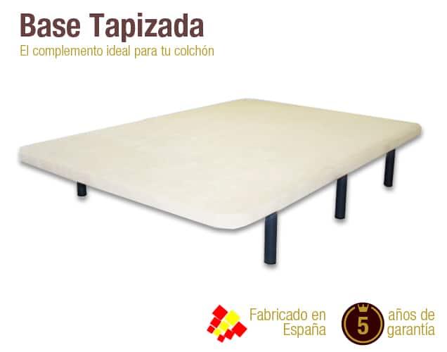 Base tapizada con patas base tapizada para colch n naturconfort - Base para colchon viscoelastico ...