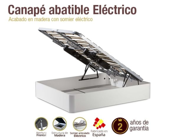 Mejor Canape O Somier.Canape De Madera Electrico Colchones Naturconfort
