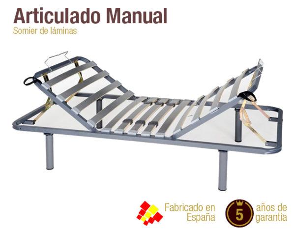 Somier 135x180.Somier Articulado Manual Somier Barato Colchones Naturconfort