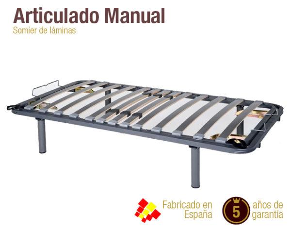 Somier De Laminas Regulable.Somier Articulado Manual Somier Barato Colchones Naturconfort