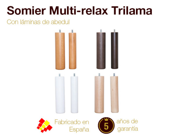 Patas Para Somier Relax.Somier Multi Relax Trilama