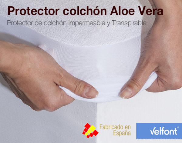 Protector colch n rizo impermeable aloe vera colchones naturconfort - Protector de colchones impermeables ...