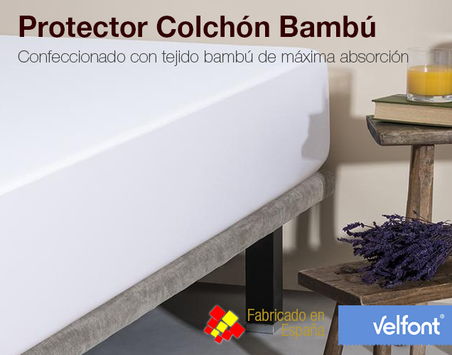 Protector colch n bamb 3 capas impermeable colchones - Protector de colchones impermeables ...