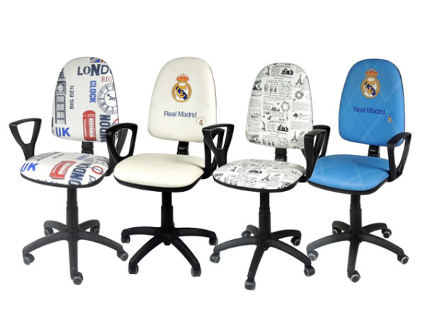 Silla de escritorio con brazos silla gamer colchones for Sillas con apoyabrazos escritorio
