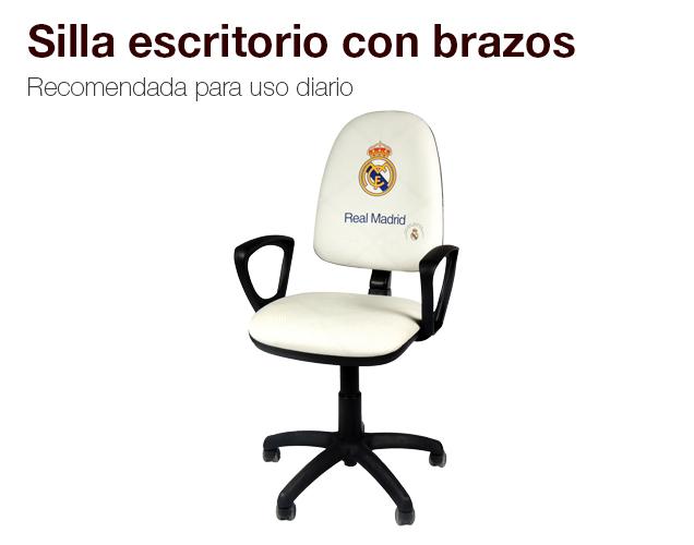 Silla de escritorio con brazos silla gamer colchones for Silla escritorio comoda