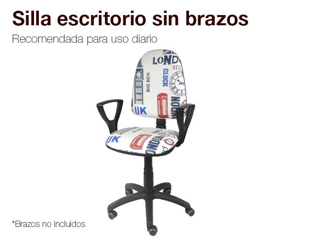 Silla de escritorio sin brazos silla gamer colchones naturconfort - Funda silla escritorio ...