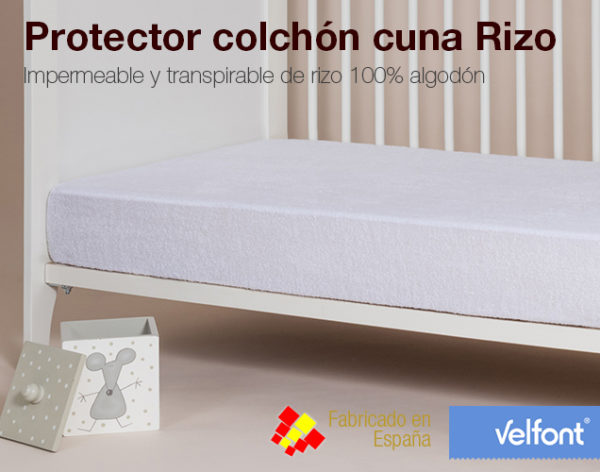 Protector Colchon Cuna Rizo Transpirable Colchones Naturconfort