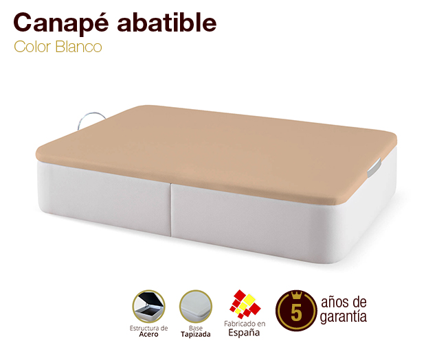 Canap abatible tapizado tapa 3d colores b sicos for Canape low cost