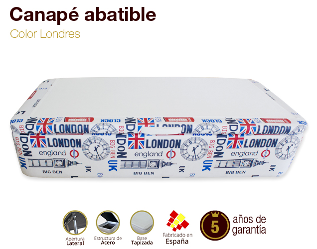 Canap tapizado apertura lateral tapa 3d gran capacidad for Canape low cost